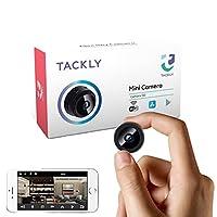 ★ SUPER REDUCIDE UND DISKRETE GRÖSSE - Es ist eine Mini-Kamera mit Taschenabmessungen, perfekt, um überall diskret und ohne Verdacht zu verstecken. Es ist eine Kamera mit den Abmessungen 3,4 x 3 x 3 cm, sicher und nicht nachweisbar, ideal für den Ein...