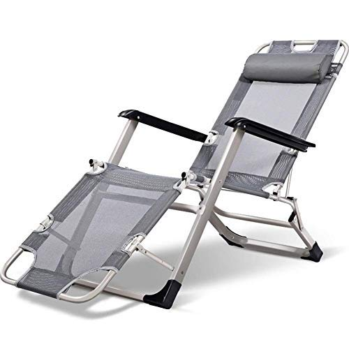 DSDD Gartenliegen und Liegen Klappstühle mit atmungsaktivem Kunststoff 4-Positionen-Einstellung für Strandpool Außenterrasse Camping Füße Stahl c2012