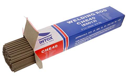 INTOX E6013 - Elettrodi per saldatura, 2,5 mm x 350 mm, in acciaio, 5 kg, ca. 260 pezzi