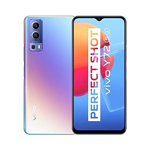 vivo Y72 5G, Le Smartphone 8 + 128Go, Appareil Photo Principal de 64MP, Batterie de 5000mAh, Chargement Rapide de 18W, Vidéos Ultra-Stables EIS, Smartphone avec Double Carte SIM (Dream Glow)