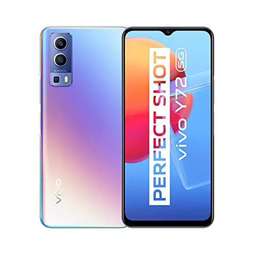 vivo Y72 5G,Smartphone 8+128 GB,Fotocamera Principale da 64 MP,Batteria da 5000 mAh,Ricarica Rapida da 18 W,Video Ultrastabile EIS,Smartphone