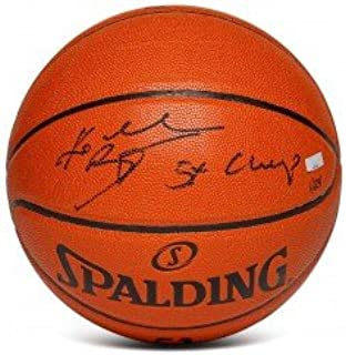 KOBE BRYANT Autographed Spalding Replica Basketball with