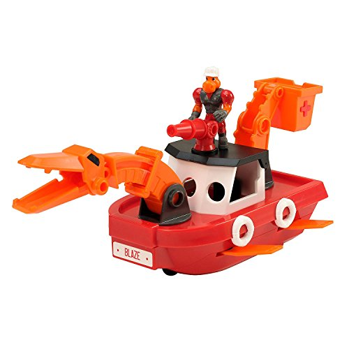 Educational Insights Dino Construction Company Rescue Crew—Blaze the Plesiosaurus Fire Boat