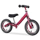 LBWT Balance Bike, Balance Car - Caminata Ligera for Niños Bicicleta for Niños Coche De Juguete Marco De Aluminio del Ánodo Sin Pedal 1-3-6 Años - Rojo Vino