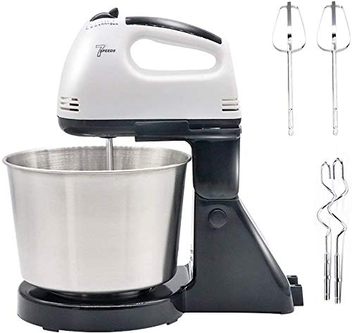 Stand Electric Mixer,7-Speed 100W Mixer with Stainless Steel Bowl,Kitchen Hand Mixer with Dough Hook & Beaters,for Cookie Cake,Eggs,Cream and Potatoes