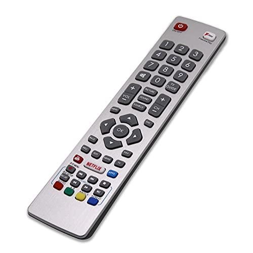 RIRY SHWRMC0121 Mando a Distancia para Sharp Aquos TV Reemplace el Mando por Sharp Aquos Smart TV