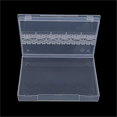 Eleusine 1pcs Nail Art Drill Bits Storage Box Holder Display Stand Container 14 Holes Acrylic Manicure Access Tools (style 1) by Eleusine