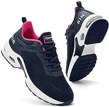 Women Air Athletic Running Shoes - Air Cushion Shoes for Womens Mesh Sneakers Fashion Tennis Breathable Walking Gym Work Shoes Dark Blue