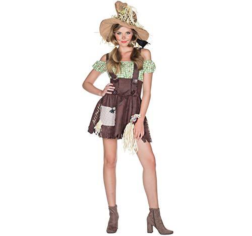 Rubie's Damen Kostüm Vogelscheuche Hedwig Gr. 42 Kleid mit Hut Fasching