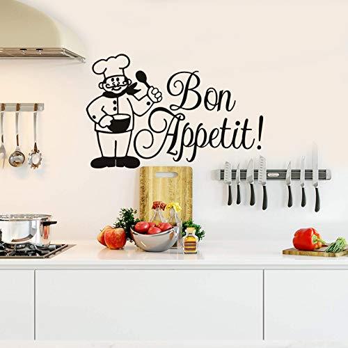 Pegatinas de pared de Disney en blanco y negro para inodoro, diseño de siluetas de hombre y mujer, Bon appétit