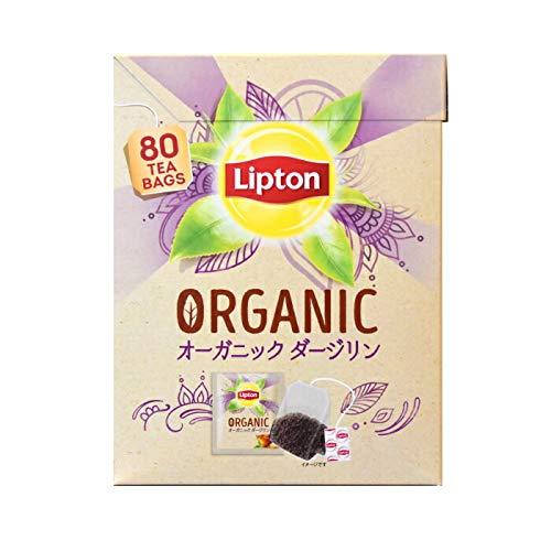 LIPTON オーガニック ダージリン アルミティーバッグ 80個 ダージリンティー/リプトン