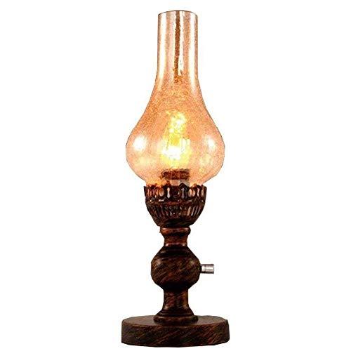 Raelf Öllampe Tragbare Windschutzscheibe Öllampe E27 Kleine Öllampe Pferd Lampe Retro Kerosene Kronleuchter Idylle Nostalgie Metall Petroleumlampe kreative antike dekorative Kerosin-Lampe 110-240V Dim