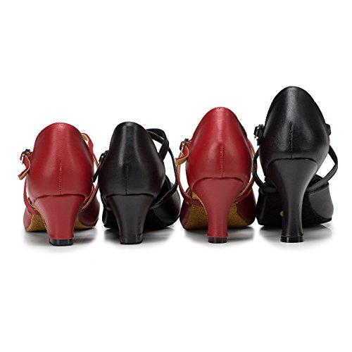 Minitoo , Damen Tanzschuhe , Rot – rot – Größe: 39 - 4