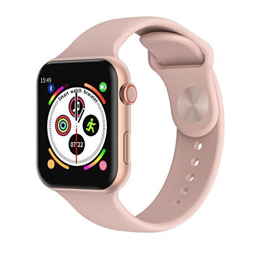 1.54'Smart Watch Fitness Tracker Watches for Men Mujer, Pantalla táctil Completa Reloj Fitness Presión Arterial Monitor de frecuencia cardíaca IP67 Pedómetro Impermeable (Color : Pink)