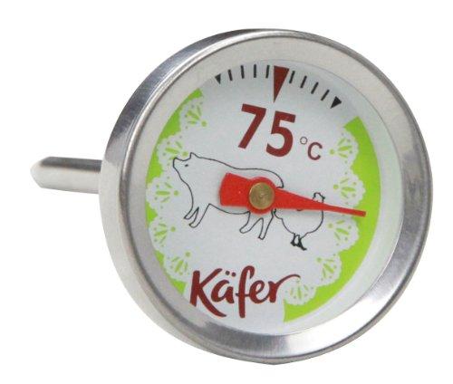 Käfer T419S Grill- und Fleisch-Thermometer für Geflügel und Schwein, analog