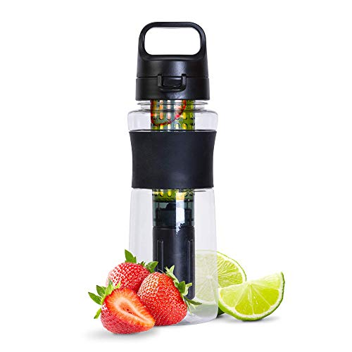 iN 750ml Sports Water Bottle with Fruit Infusion Chamber and Removable...