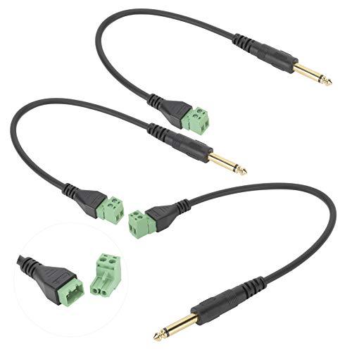FOLOSAFENAR Cable de extensión de señal monocanal de 6,35 mm, sin Soldadura,...