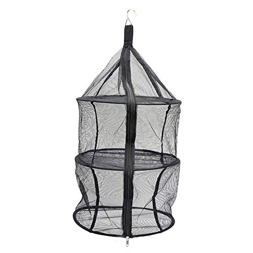 Camping Drying Net Outdoor Camping Organizer Mesh Folding Three-Layer Nylon Black Storage Net Pocket Clothes Hanging Net for Home Picnic BBQ Easy to Carry Climbing Accessories