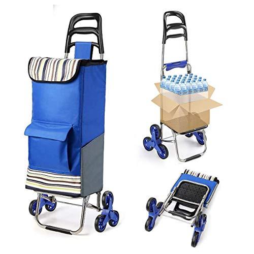 Z-SEAT Leichter zusammenklappbarer Einkaufswagen mit leisen Dreirädern aus Gummi und abnehmbarem Beutel Lebensmittelwagen Einfach für ältere Menschen. Einfache Aufbewahrung