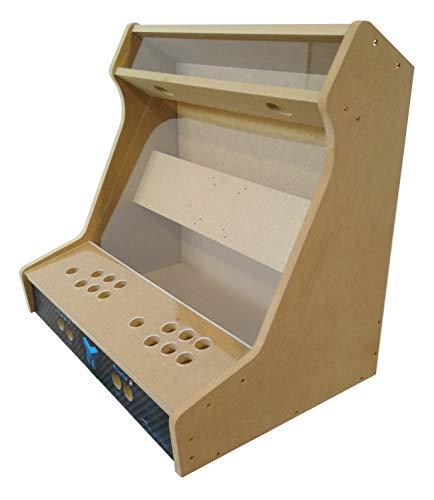 """TALENTEC Kit bartop 24"""" en Madera DM + metacrilato acrílico para recreativa de sobremesa DIY. Orificios de 28 mm para joysticks y Botones."""