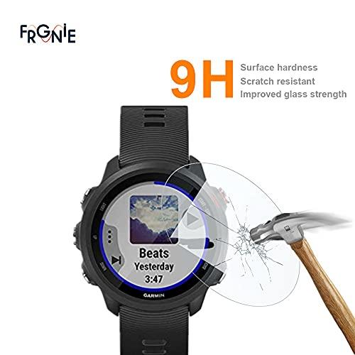 (4枚入り) Frgnie Garmin ForeAthlete 245 スクリーン保護フィルム, 9H 強化 ガラス 保護フィルム 対応 Garmin ForeAthlete 245 Music ForeAthlete 245スマート腕時計