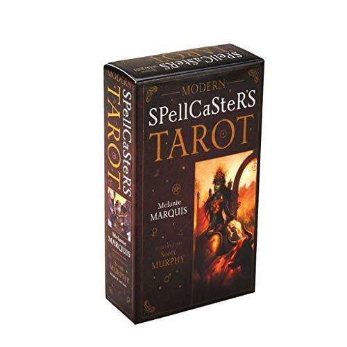 DALIN 78pcs Modern Spellcaster's Tarot Full English Tarot Cards Deck Family Board Game
