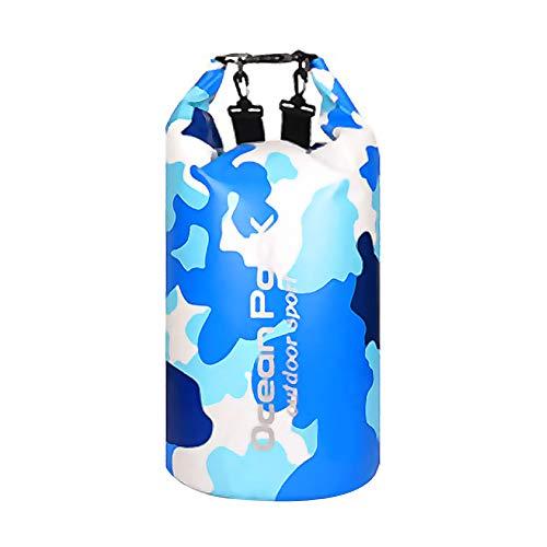 Amorar - Mochila impermeable con correas ajustables, bolsa de playa, bolsa de almacenamiento para artículos al aire libre, para natación, camping, pesca, navegación, kayak, barcos, color azul, tamaño 30L