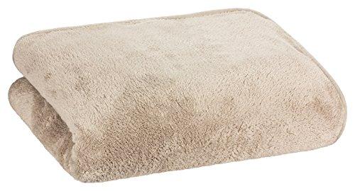 Floringo Well-Soft Wellness Decke 95° waschbar 150x200 Kuscheldecke extraweich Schlamm