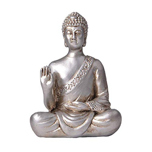 Ybzx Estatua de Buda, Manualidades de Adornos Zen, Mini Figura de Buda Interior, decoración Religiosa, Escultura para Accesorios de Oficina de Sala de Estar Moderna para el hogar