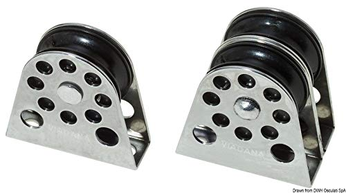 Vertikaler Umlenkblock, einfach f. Leinen 8 mm
