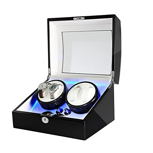 NAJING Devanadera Automática Doble Relojes Cajas Mecánicas De Rotación De Cajas,C