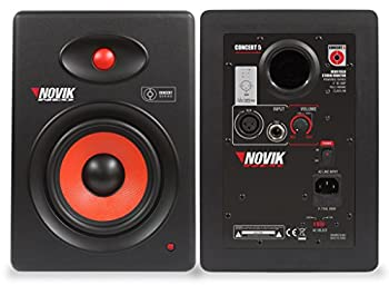 NOVIK NEO Concert 5 Near Field SELF-Powered Studio Monitor 90 Watts Kevlar Woofer for Mixing Mastering and Recording 1 Piece