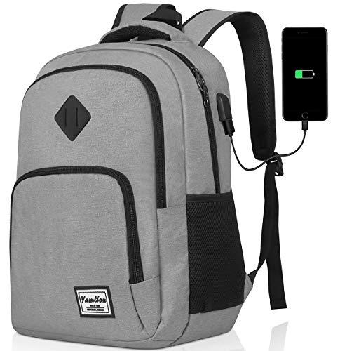 YAMTIOM Rucksack Herren Schulrucksack Jungen Teenager Laptop Rucksack mit USB-Ladeanschluss für Laptop 17 Zoll,Rucksack für Studium Schule Reise,40L