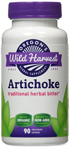 Oregon's Wild Harvest Non-GMO Artichoke Capsules Organic Herbal Supplement (Packaging May Vary), 90 Count