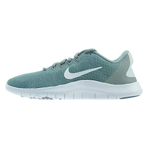 Nike Women's WMNS Flex 2018 RN Running Shoes, Multicoloured (Mica Green/White/Light Silver 301), 4.5 UK