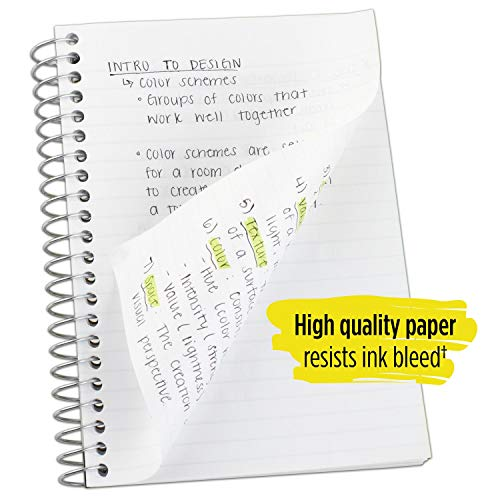 """Five Star Spiral Notebooks, 1 Subject, College Ruled Paper, 100 Sheets, 7 x 5"""", Personal Size, Colors Selected For You, 2 Pack (73707) Photo #2"""