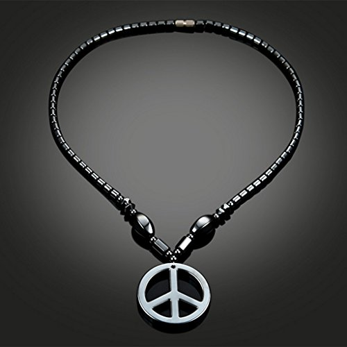 WOWOWO Necklace Hematite Necklace With Magnetic Therapy Healing Health Unisex Jewelry Geometric