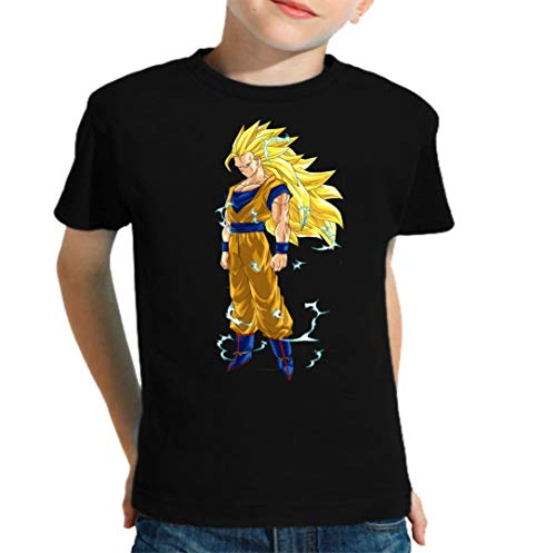 The Fan Tee Camiseta de NIÑOS Dragon Ball Vegeta Goku Bulma Kinton Super Saiyan 3-4 Años