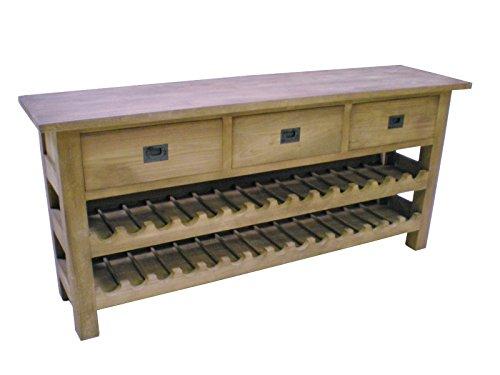 Teak Wein ANRICHTE SE16-2b Teakholz Antik Massiv Schrank Regal Kommode Sideboard