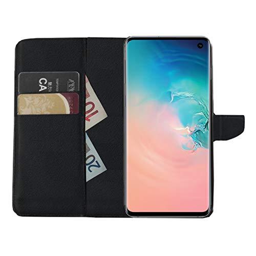 MOELECTRONIX Buch Klapp Tasche Schutz Hülle Wallet Flip Hülle Etui passend für Samsung Galaxy S10e DuoS SM-G970F/DS