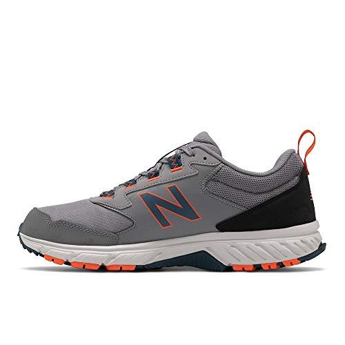 New Balance Men's 510 V5 Trail Running Shoe, Gunmetal/Rogue Wave, 8.5 M US