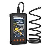 NIDAGE Inspection Camera, 5.5mm Borescope Automotive Endoscope Camera with 4.3 inch Screen, 1080P HD Industrial Endoscope with Semi-Rigid Cable for Vehicle Checking, Pipe Detecting (4.92FT)