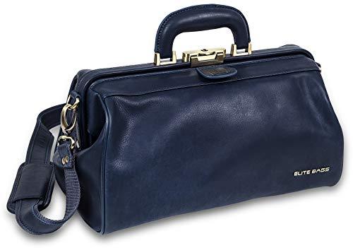 Elite Bags, Classy's, Maletín para visitas médicas, Maletín de piel, Compacto, Azul ✅