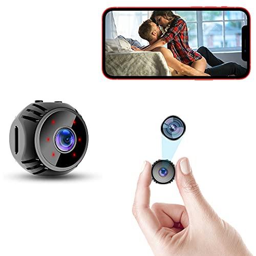 Cámara W8 Mini Spy Hidden1080P, monitor de bebé inalámbrico pequeño interior para seguridad en el hogar, cámara de vigilancia para mayor seguridad, con envío en tiempo real Wifi al teléfono móvil