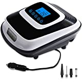 Findigit Air Compressors Tire Inflator Digital,Portable Car Tyre Pump Auto Stop Preset Pressure 12V Tire Air Pump with LED Light Accurate Pressure Gauge Valve Adaptors for Other Inflatables