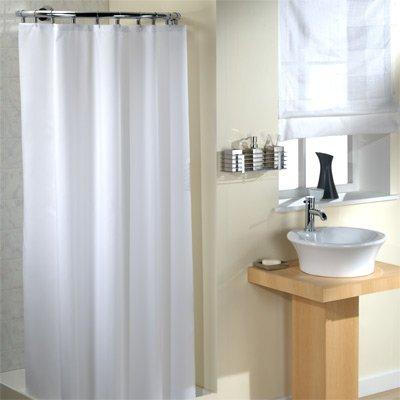 Linens Limited - Duschvorhang aus Polyester - Einfarbig - Weiß - 180 x 180 cm