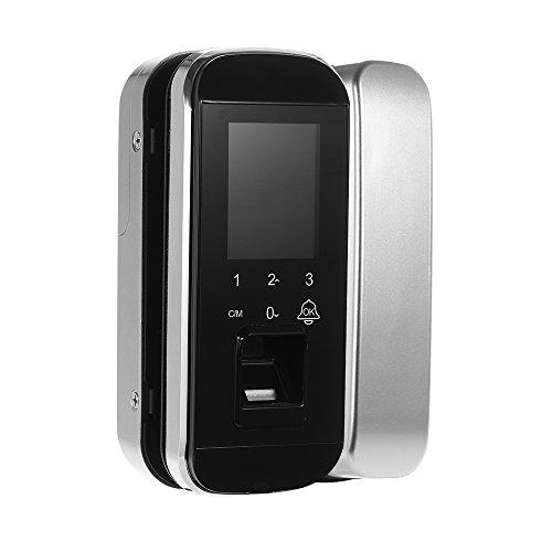 OWSOO Sistema de Huella Digital Cerradura Biométrica Sistema de Control de Acceso de Puerta Inteligente Cerradura Electrónica de Puerta sin Llave con Pantalla Táctil para Seguridad de Casa y Oficina