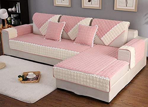 HXTSWGS Cojín de Tela para sofá, Funda de sofá nórdica Antideslizante de Invierno, Funda de Toalla de sofá Gruesa de felpa-A06_70 * 210cm