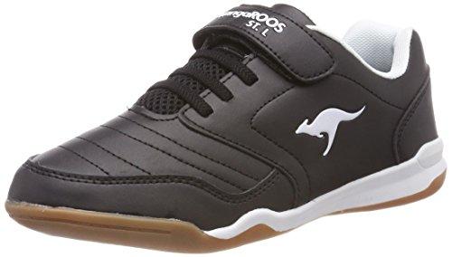 KangaROOS VanderYard Unisex-Kinder Sneaker, Schwarz (Jet Black/White 5012), 32 EU