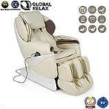 REBAJAS -150€ l SAMSARA Sillon de masaje 2D - Beige (modelo 2020) - Sofa masajeador electrico de relax con shiatsu - Silla butaca con presoterapia, gravedad cero, calor y USB - Garantía 2 Años